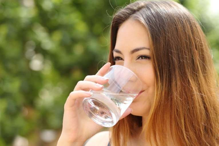 Hydrate your skin with enough water