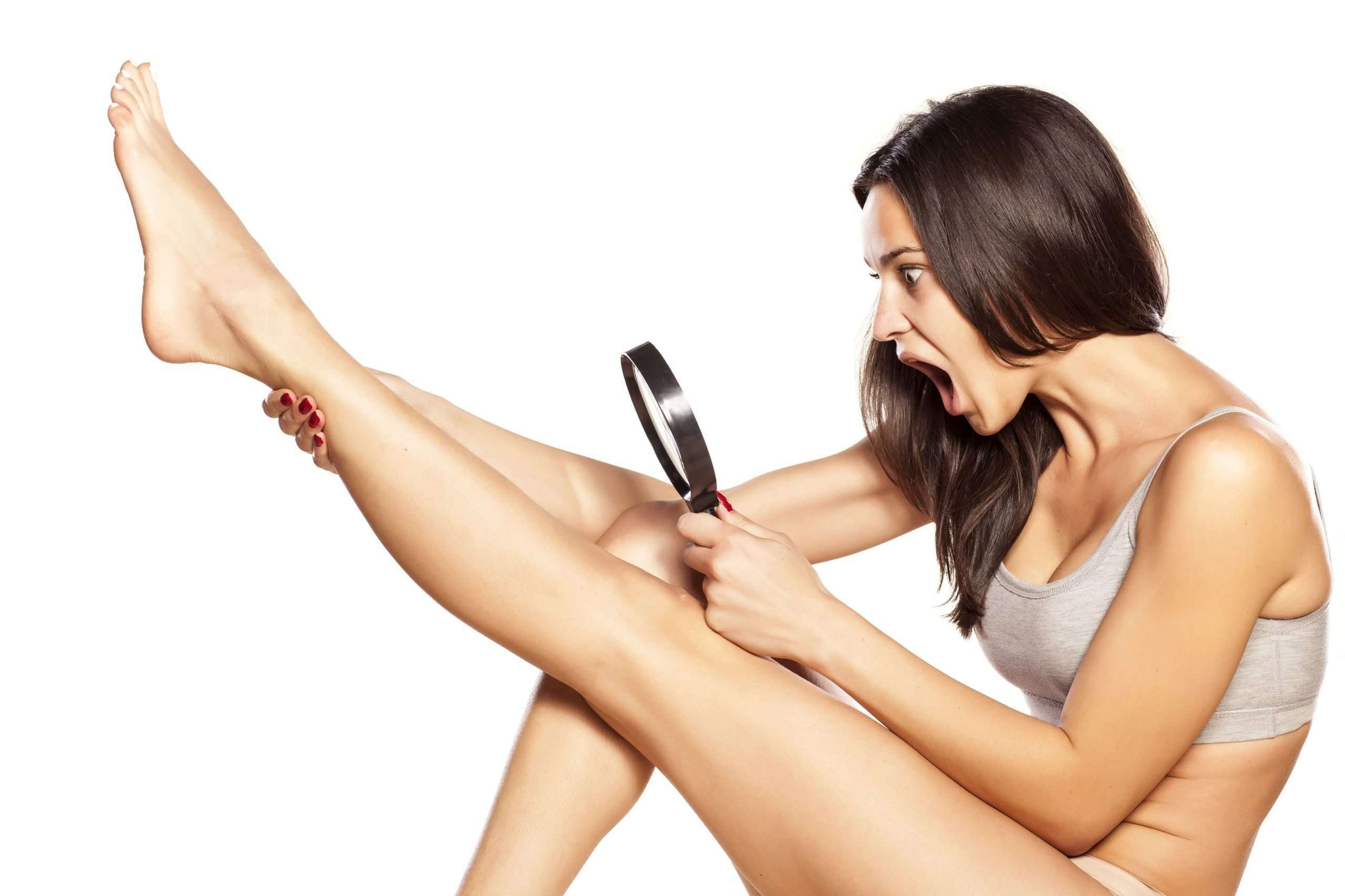 Trim the longer hairs on your legs