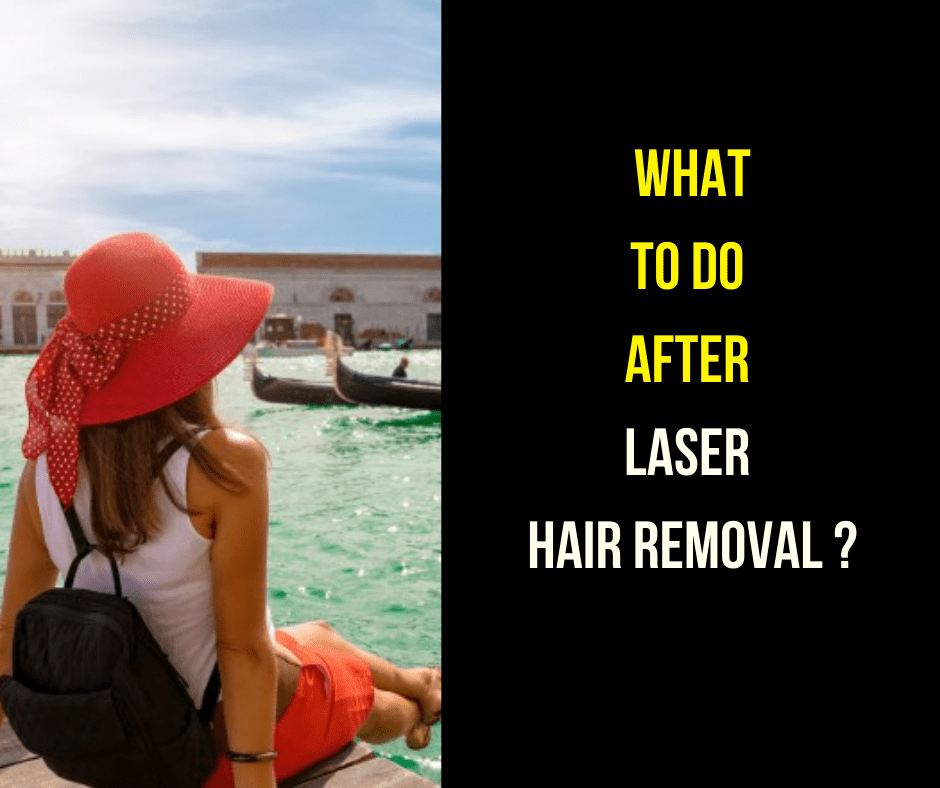 What can I do between 24-48hrs after the laser hair treatment session?