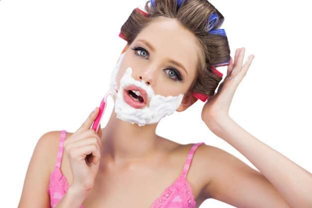 women shaving