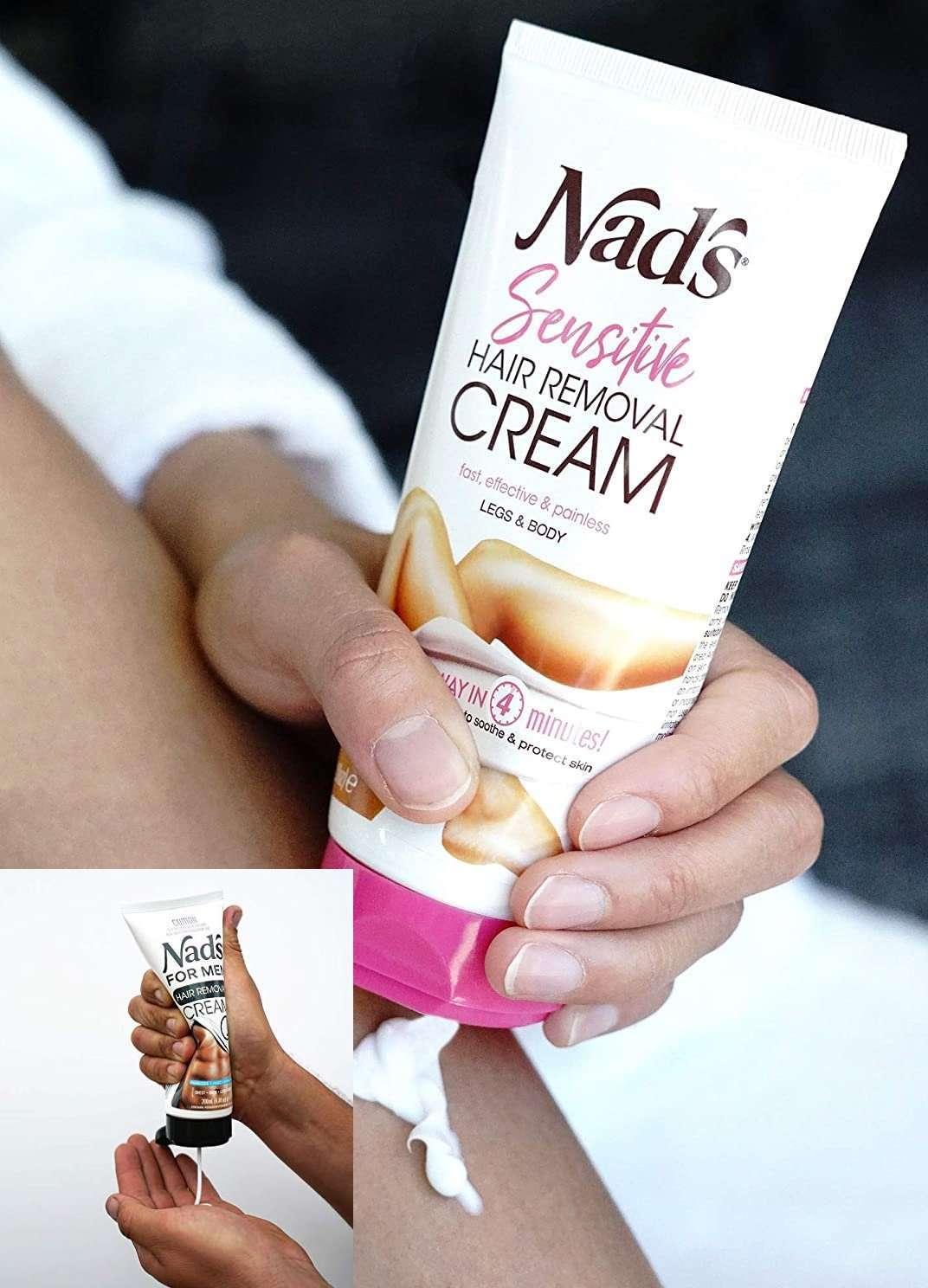 Buy Nad's Hair Removal Cream - - Sensitive Depilatory Cream For men and women