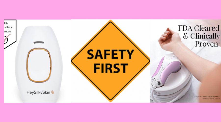 Area of use -iLight vs Heysilkyskin IPL Safety & Protection Comparison