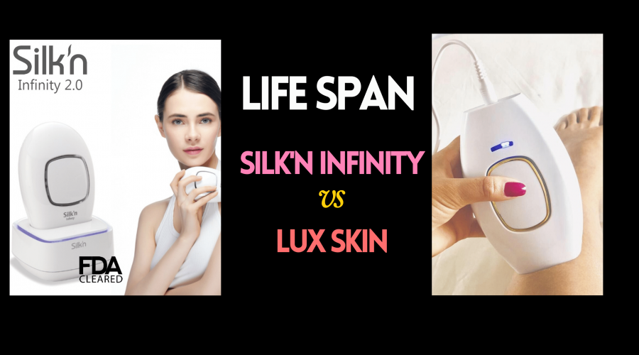 lux skin co and silk'n infinity flashes and life span